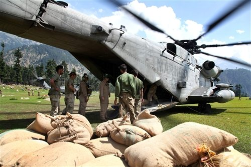 More Army Helicopters Arrive in Pakistan