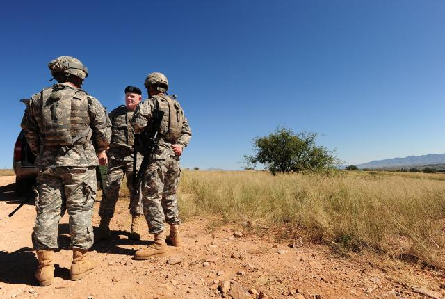 Guard presence on border deters threats
