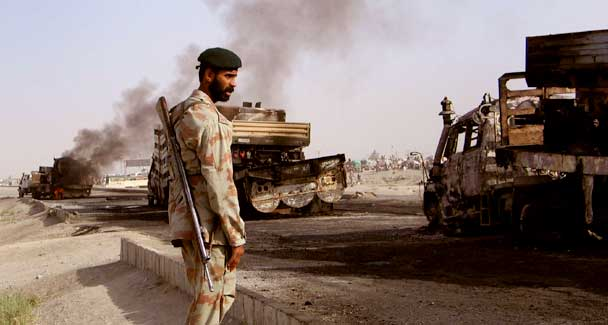Pakistan Taliban attacks destroy more than 40 NATO vehicles