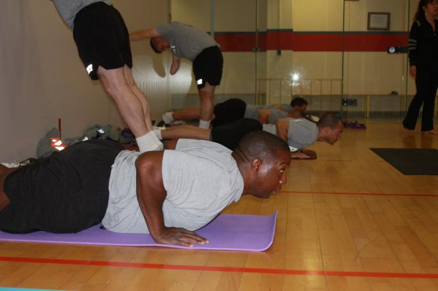 Yoga class builds strength, eases stress for Soldiers in transition