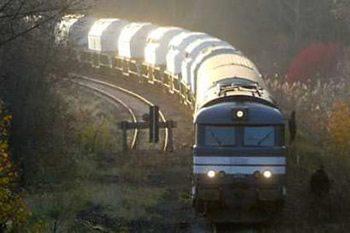 Nuclear waste train reaches German ter...