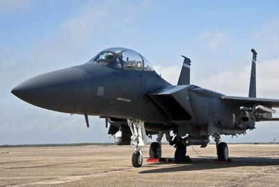 F-15E flies with new radar system