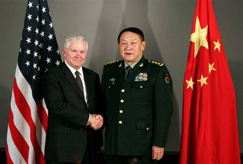 Gates in China to shore up uneasy mili...