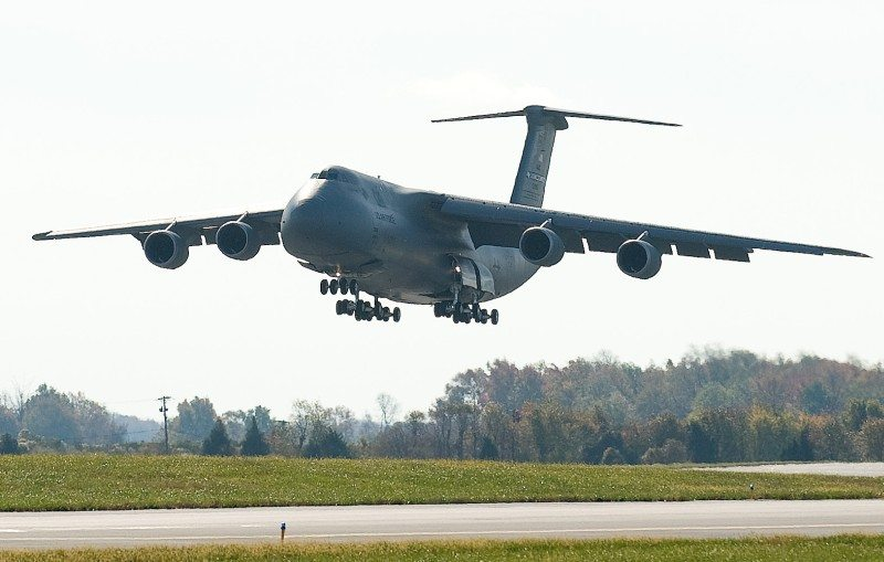 C-5s provide 'muscle' for helicopter swap-out missions to Afghanistan