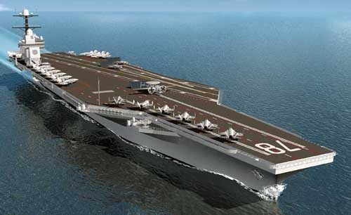 Construction Begins on Navy's Newest Aircraft Carrier