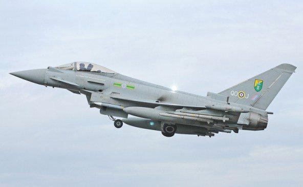 RAF Typhoons Patrol Libyan No-Fly Zone