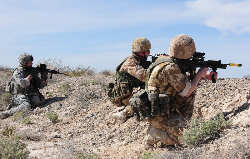 US, British forces test contingency op...