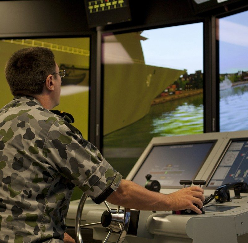Navy Opens High-Tech Warship Simulator