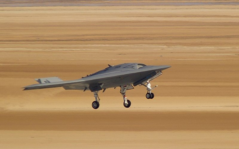 X-47B Demonstrator Flies in Cruise Mod...