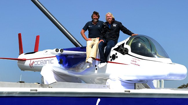 Branson unveils flying sub to explore ...