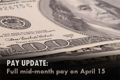 Troops to receive full mid-month pay A...