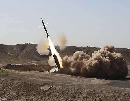 Iran fires medium-range missile in war...