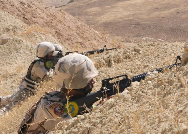 Iraqi soldiers practice ambush techniq...