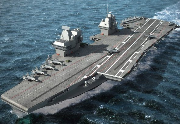Rolls-Royce Installs World's Most Powerful Marine Gas Turbine Into New Aircraft Carrier
