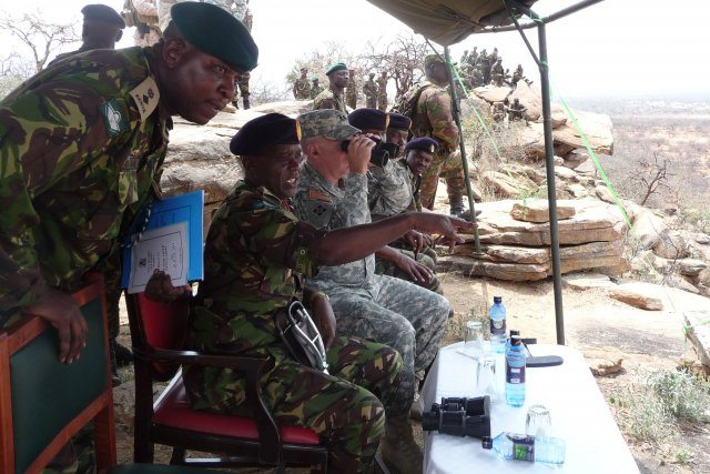 US Army Africa commander observes infantry training in Kenya