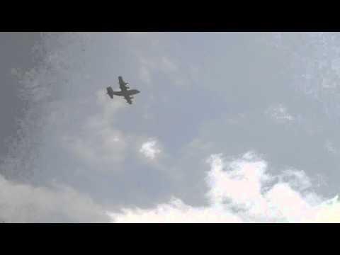 AC-130 GUNSHIP FLY BY