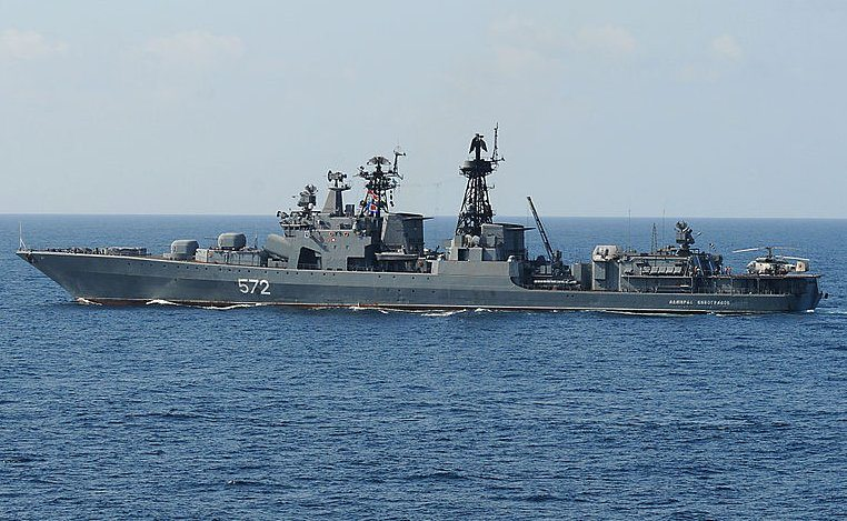 Chinese warships participate in Russia...