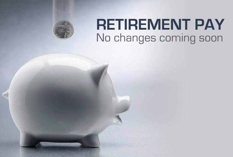 No changes to military retirement anyt...