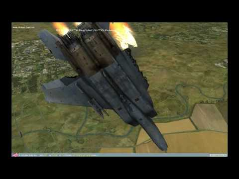 Crazy Dogfights Getting pound SU-33 MIG-29 F-15 Lock On Flaming Cliff's