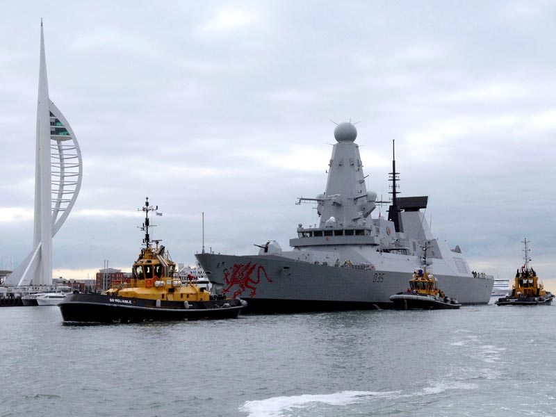 Latest Type 45 Destroyer Arrives at New Base