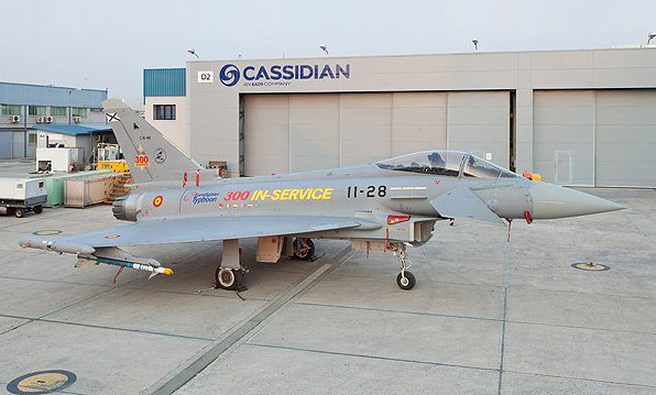 Spanish Air Force Takes Delivery of 300th Eurofighter Typhoon