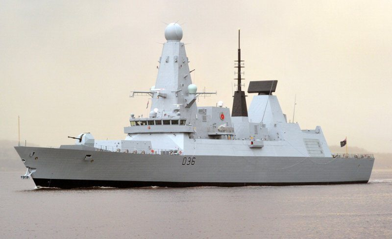 Fifth Type 45 Destroyer Sails on Maide...