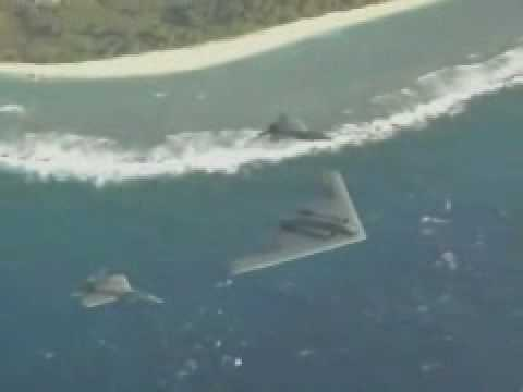Island Stealth: F-22A Raptors and a B-2 Spirit Over Guam, USA