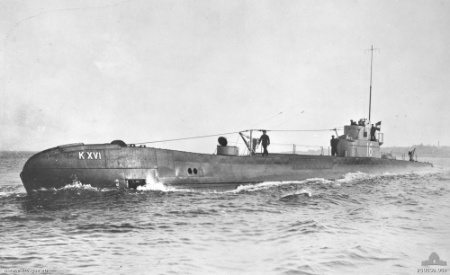 Missing Submarine K XVI Found After 70 Years