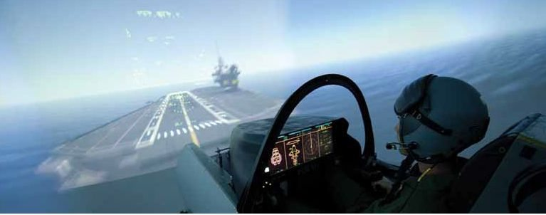 Royal Navy Pilots Train for Aircraft C...