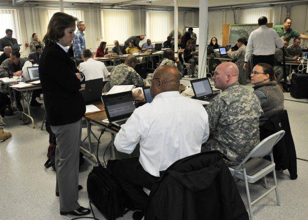 European garrisons protecting Army com...