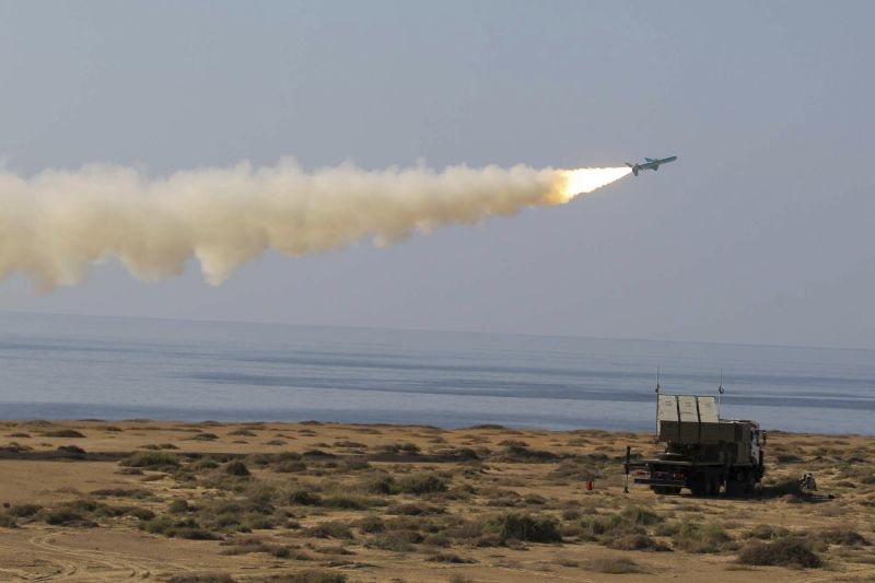 Iran tests missiles near key oil-trans...