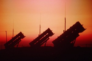 patriot_missile_battery_at_sunset
