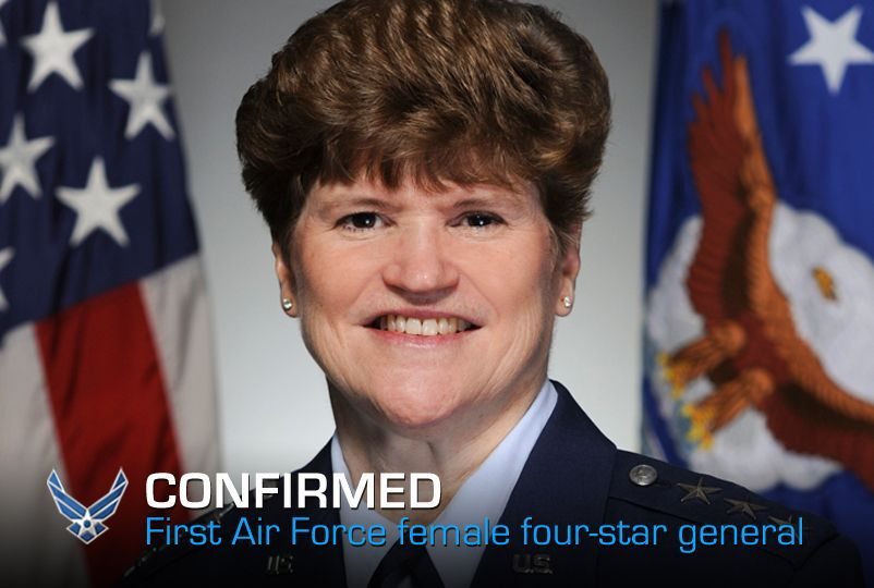 First Air Force female four-star gener...