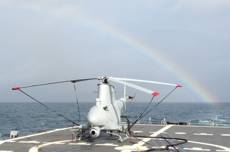 US Frigate Deploys with 4 Fire Scout U...