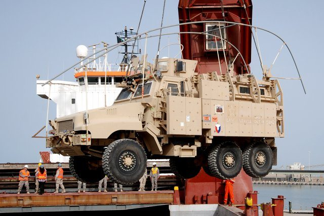 Last Iraq MRAP loaded for transport to...