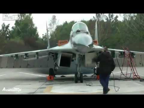 MiG-29 engine test run