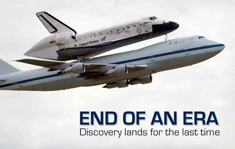 Discovery flies for last time, ends ch...