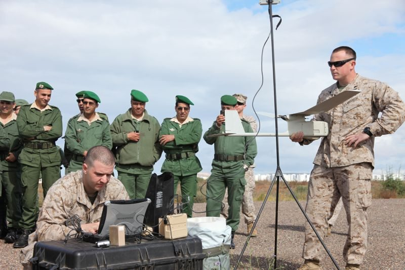 US Marines Demo Raven UAV to Moroccan ...