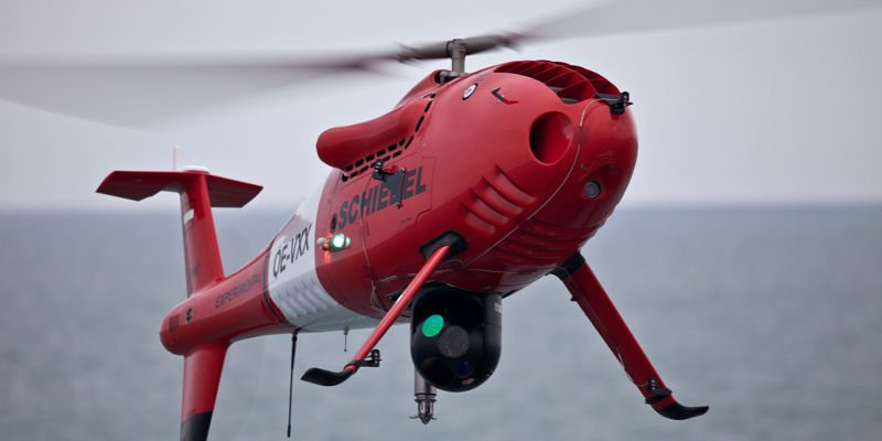 Camcopter S-100 1st UAS Ever to Fly fr...