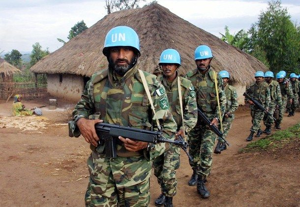 11 Pakistani peacekeepers wounded in D...