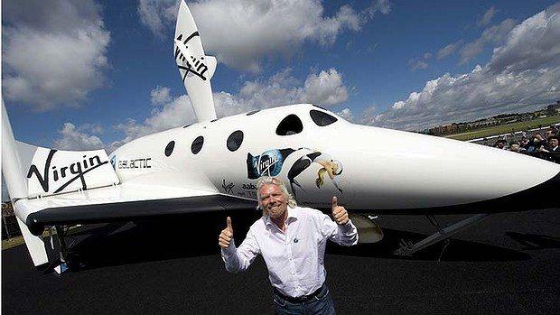 Branson's spaceship steals the spotlig...
