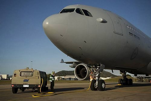Air Force Tanker Conducts Its First Ex...