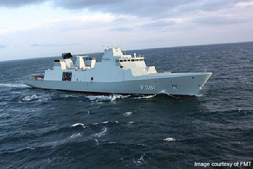 Denmark's Three New Frigates Meet At Sea