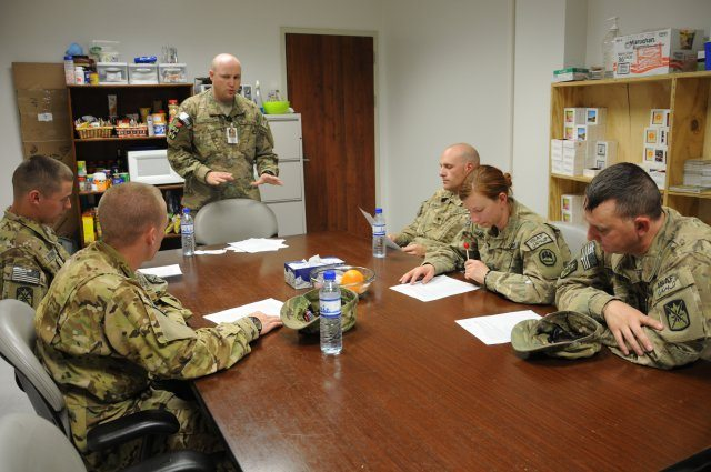 Combat medics receive battlefield stress training