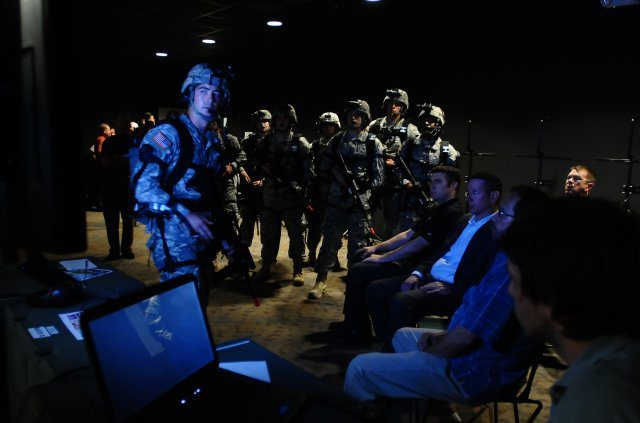 Virtual reality used to train Soldiers...