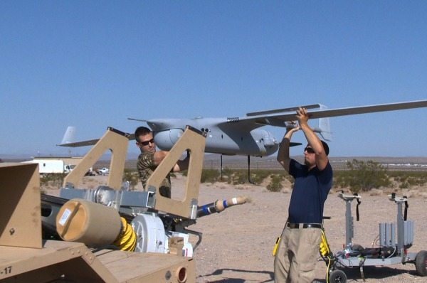 US Navy's RQ-21A Small UAV Begins Flig...