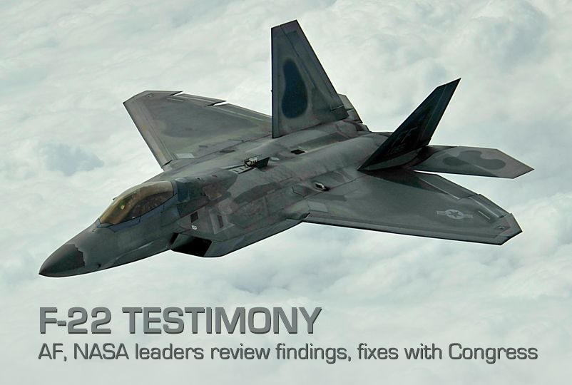 Air Force, NASA leaders review F-22 fi...