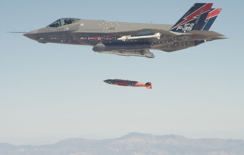 F-35A completes first in-flight JDAM r...