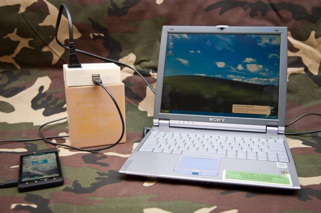Army engineers develop chargers for ph...