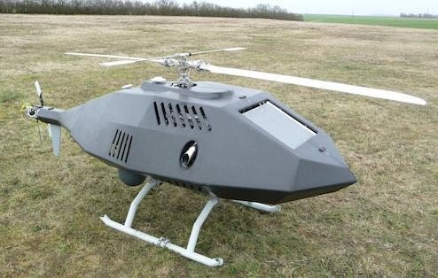 Cassidian Unveils Tanan 300 Unmanned VTOL UAS Helicopter